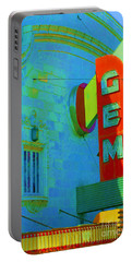 Sign - Gem Theater - Jazz District  Portable Battery Charger