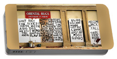 Portable Battery Charger featuring the photograph Sign Of Distress Post Hurricane Katrina Message by Michael Hoard