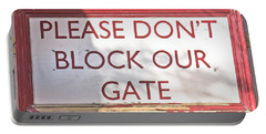Sign On Gate Portable Battery Charger