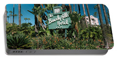 Signboard Of A Hotel, Beverly Hills Portable Battery Charger by Panoramic Images