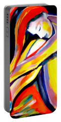 Portable Battery Charger featuring the painting Silence by Helena Wierzbicki
