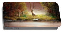 Portable Battery Charger featuring the painting Silence by Sorin Apostolescu