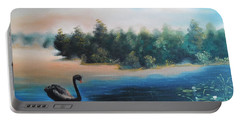 Portable Battery Charger featuring the painting Silence by Vesna Martinjak