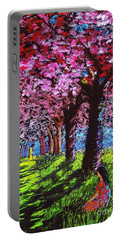 Contemporary Jesus Painting, Silent Communion Portable Battery Charger