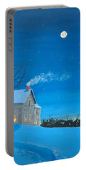 Portable Battery Charger featuring the painting Silent Night by Norm Starks