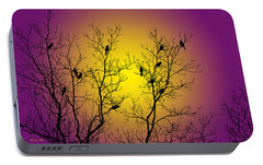 Silhouette Birds Portable Battery Charger by Christina Rollo