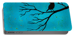 Silhouette Blue Portable Battery Charger by Stefanie Forck