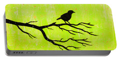 Silhouette Green Portable Battery Charger by Stefanie Forck