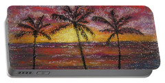 Island Silhouette  Portable Battery Charger