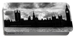 Silhouette Of  Palace Of Westminster And The Big Ben Portable Battery Charger by Semmick Photo