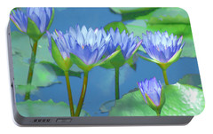 Portable Battery Charger featuring the photograph Silken Lilies by Holly Kempe