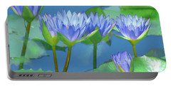 Silken Lilies Portable Battery Charger by Holly Kempe