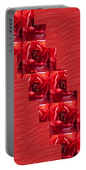 Silken Red Sparkles Redrose Across Portable Battery Charger by Navin Joshi