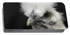 Silkie Chicken Portrait Portable Battery Charger by Jeannette Hunt