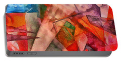 Portable Battery Charger featuring the digital art Silky Abstract by Catherine Lott