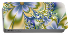 Portable Battery Charger featuring the digital art Silky Flowers by Svetlana Nikolova