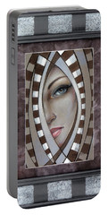 Silver Memories 220414 Framed Portable Battery Charger by Selena Boron