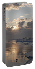 Portable Battery Charger featuring the photograph Silver Sunrise by Mim White