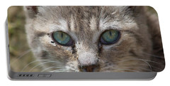 Silver Tabby But What Color Eyes Portable Battery Charger
