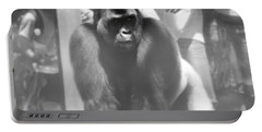 Silverback Gorilla In The Zoo Portable Battery Charger by Dan Sproul