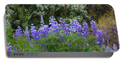Portable Battery Charger featuring the photograph Silvery Lupine Black Canyon Colorado by Janice Rae Pariza