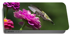 Portable Battery Charger featuring the photograph Simple Pleasure Hummingbird Delight by Christina Rollo