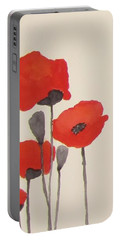 Simply Poppies 1 Portable Battery Charger by Elvira Ingram