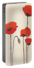 Simply Poppies 2. Portable Battery Charger by Elvira Ingram