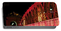 Singapore Anderson Bridge At Night Portable Battery Charger