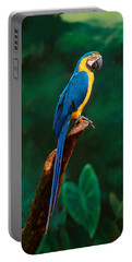 Singapore Macaw At Jurong Bird Park  Portable Battery Charger by Anonymous