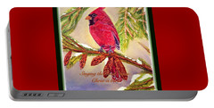 Portable Battery Charger featuring the painting Singing The Good News With A Christmas Message by Kimberlee Baxter
