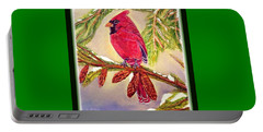 Portable Battery Charger featuring the painting Singing The Good News With Border by Kimberlee Baxter