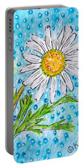 Single Summer Daisy Portable Battery Charger