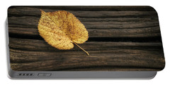 Single Yellow Birch Leaf Portable Battery Charger