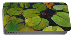 Singleton Lily Pads Portable Battery Charger by Phil Chadwick