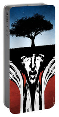 Portable Battery Charger featuring the digital art Sir Real by Phil Perkins