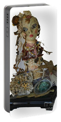 Portable Battery Charger featuring the sculpture Siren by Avonelle Kelsey