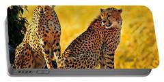 Sister Cheetahs Portable Battery Charger