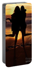 Sister Sunset Portable Battery Charger by Kerri Mortenson