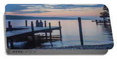 Sisters - Lakeside Living At Sunset Portable Battery Charger