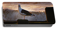 Sittin On The Dock Of The Bay Portable Battery Charger by David Dehner