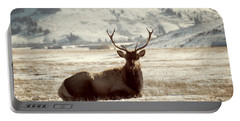Sitting Bull Elk Portable Battery Charger