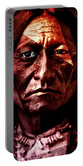 Sitting Bull - Warrior - Medicine Man Portable Battery Charger by Hartmut Jager