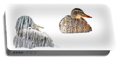 Sitting Ducks In A Blizzard Portable Battery Charger by Bob Orsillo