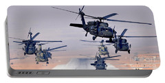 Six Uh-60l Black Hawks And Two Ch-47f Chinooks Portable Battery Charger