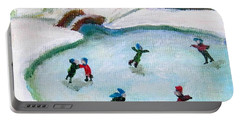 Skating Pond Portable Battery Charger