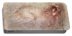 Sketch Of A Roaring Lion Portable Battery Charger