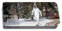 Ski Trooper Portable Battery Charger by Fiona Kennard