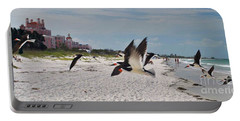 Black Skimmers At Don Cesar Portable Battery Charger