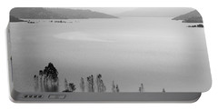 Portable Battery Charger featuring the photograph Skc 0055 A Hazy Riverscape by Sunil Kapadia